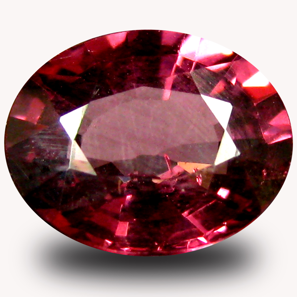 1.55 ct AAA+ Gorgeous Oval Shape (8 x 6 mm) Pinkish Red Rhodolite Garnet Natural Gemstone