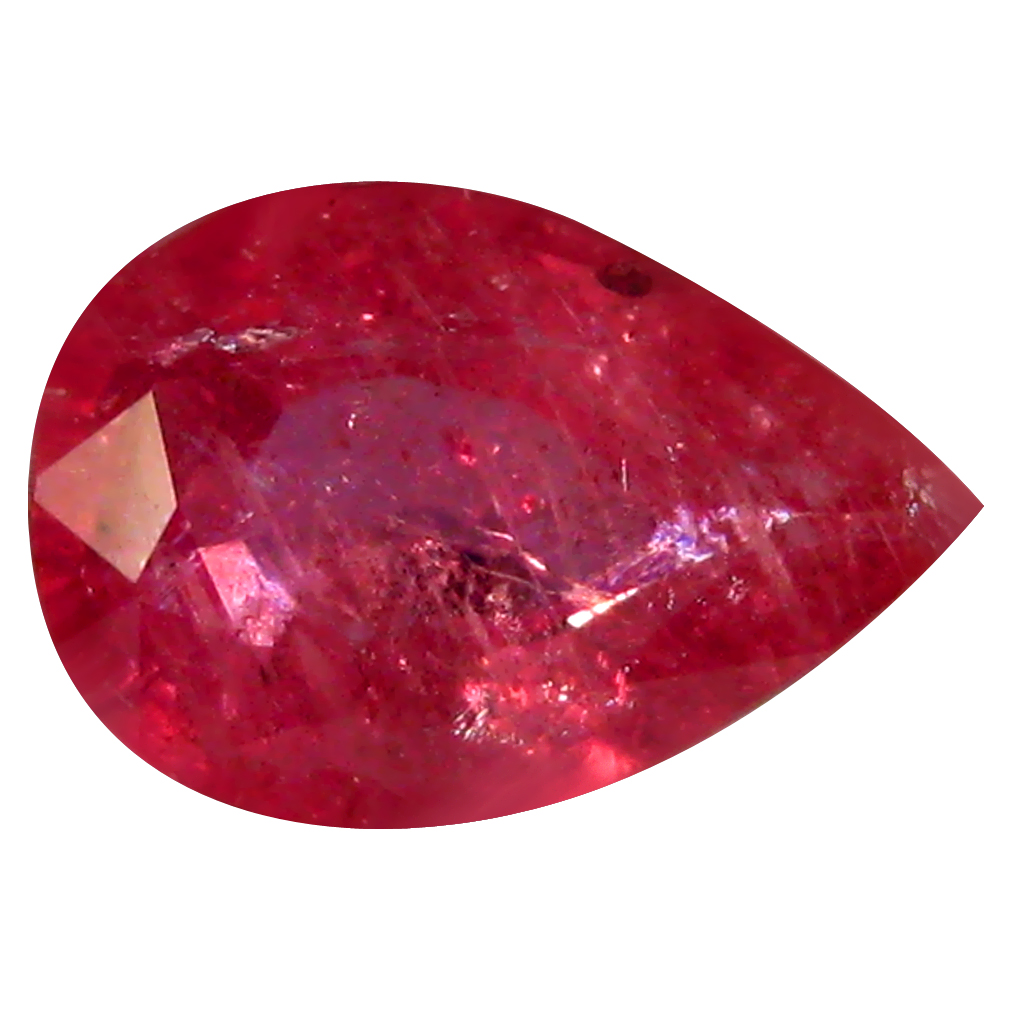 0.70 ct AAA Pretty Pear Shape (7 x 5 mm) Red Sapphire Natural Gemstone