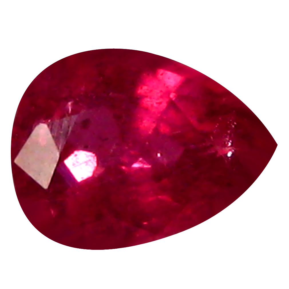 0.47 ct AAA Phenomenal Pear Shape (5 x 4 mm) Red Sapphire Natural Gemstone