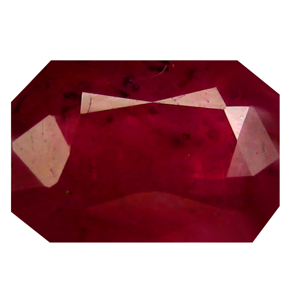 0.92 ct AAA Supreme Octagon Shape (6 x 4 mm) Red Sapphire Natural Gemstone