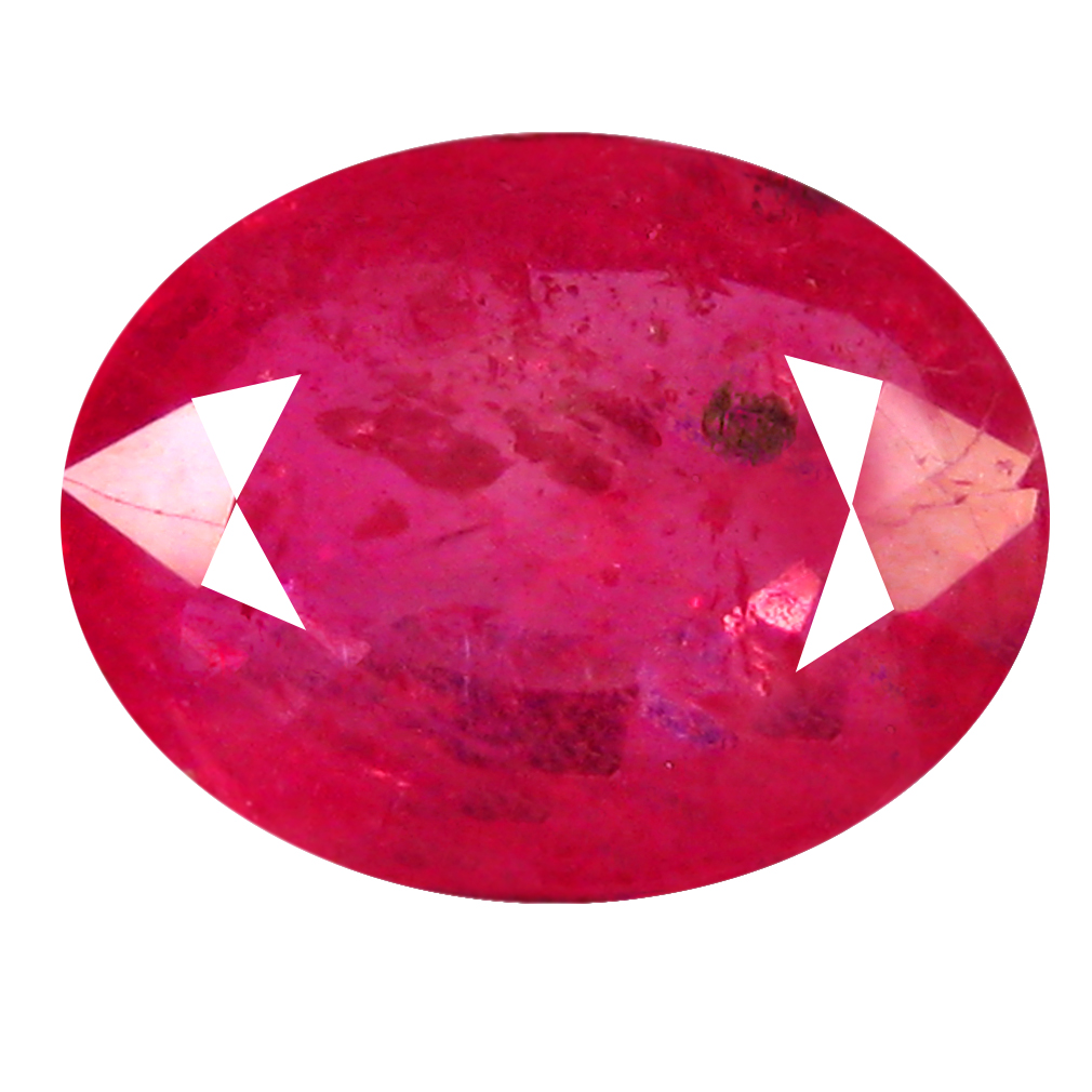 1.43 ct AAA Outstanding Oval Shape (8 x 6 mm) Red Sapphire Natural Gemstone