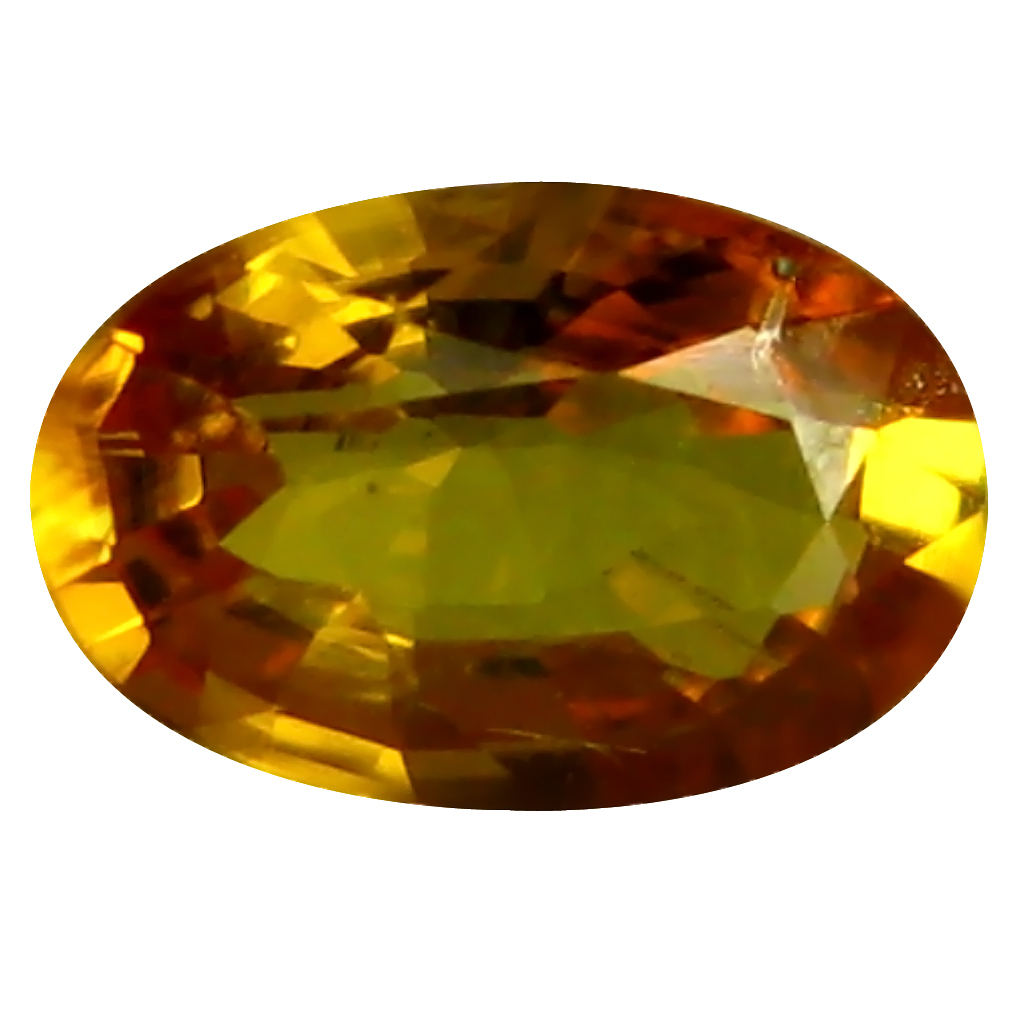 0.57 ct AAA Magnificent fire Oval Shape (6 x 4 mm) Orange Yellow Sapphire Natural Gemstone