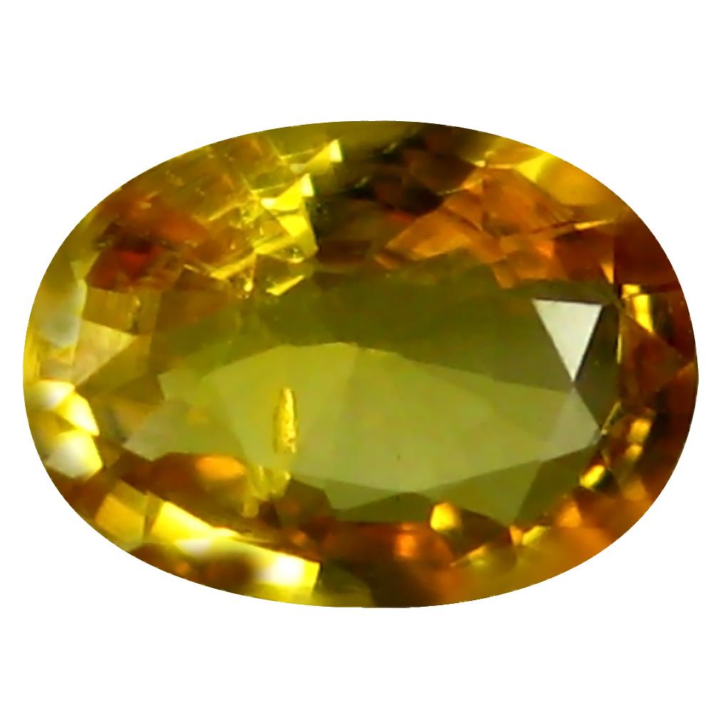 0.65 ct AAA Grand looking Oval Shape (6 x 5 mm) Orange Yellow Sapphire Natural Gemstone