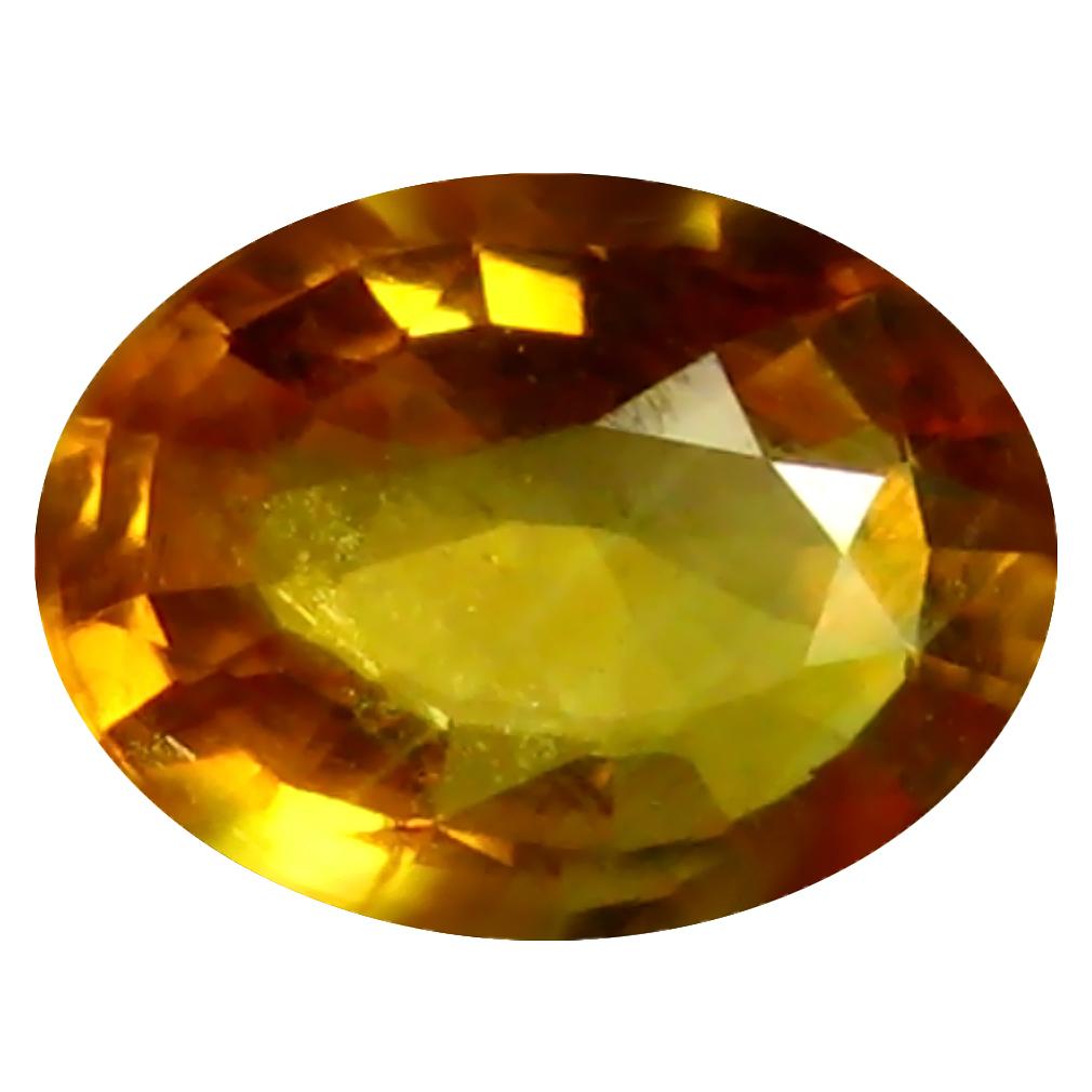 0.66 ct AAA Good-looking Oval Shape (6 x 5 mm) Orange Yellow Sapphire Natural Gemstone