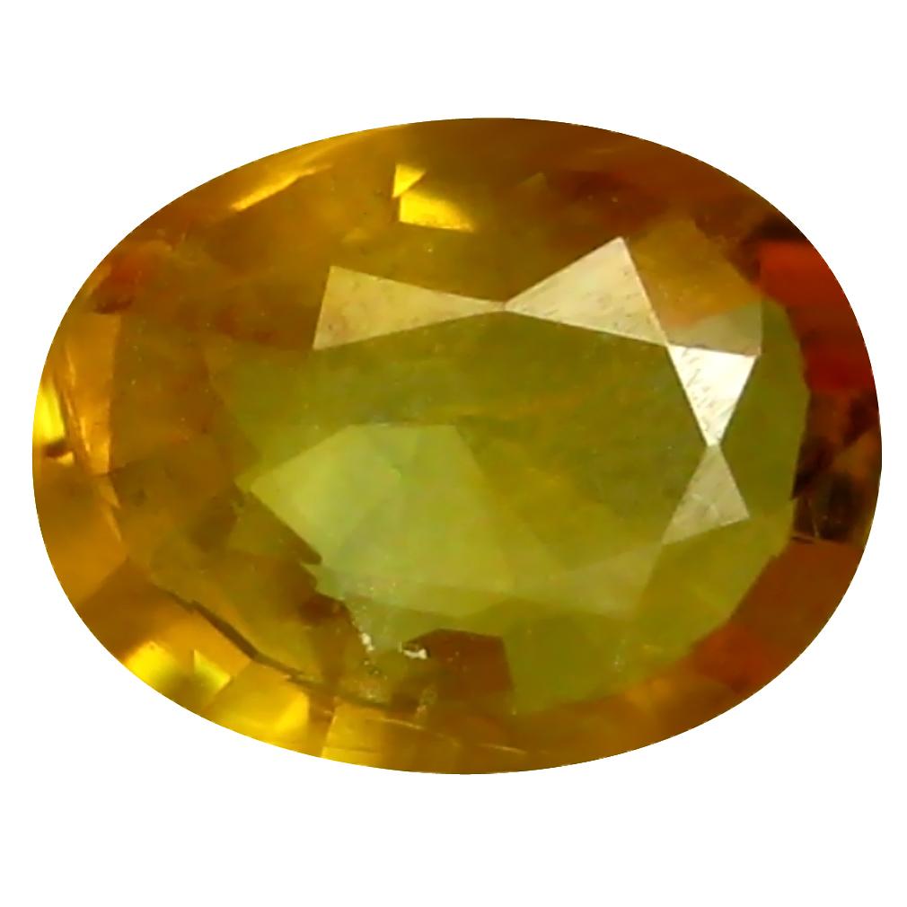 0.76 ct AAA Supreme Oval Shape (7 x 5 mm) Orange Yellow Sapphire Natural Gemstone