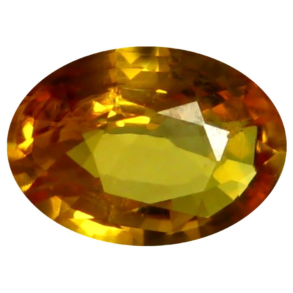 0.72 ct AAA Beautiful Oval Shape (7 x 5 mm) Orange Yellow Sapphire Natural Gemstone