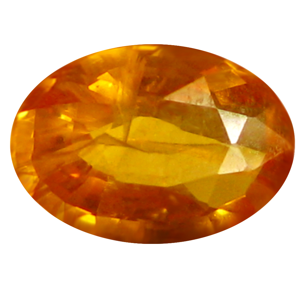 0.78 ct AAA Spectacular Oval Shape (7 x 5 mm) Orange Yellow Sapphire Natural Gemstone
