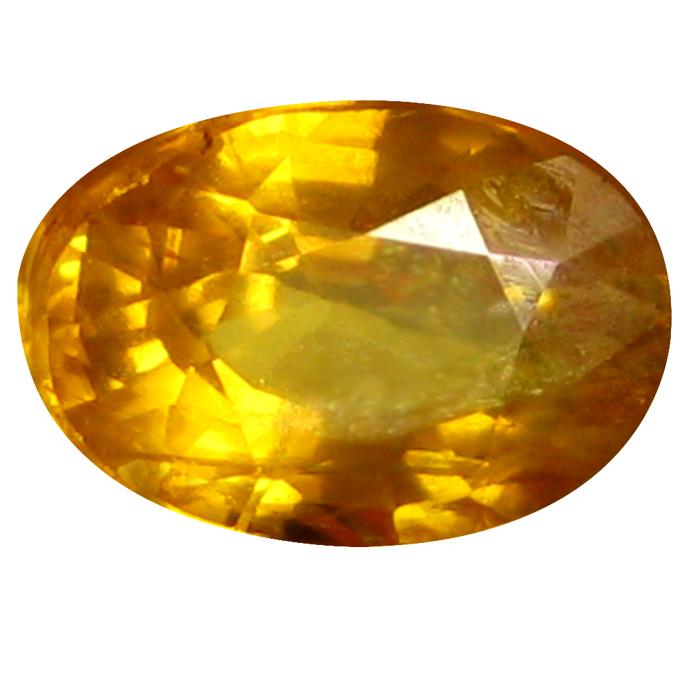 0.75 ct AAA Impressive Oval Shape (7 x 5 mm) Orange Yellow Sapphire Natural Gemstone