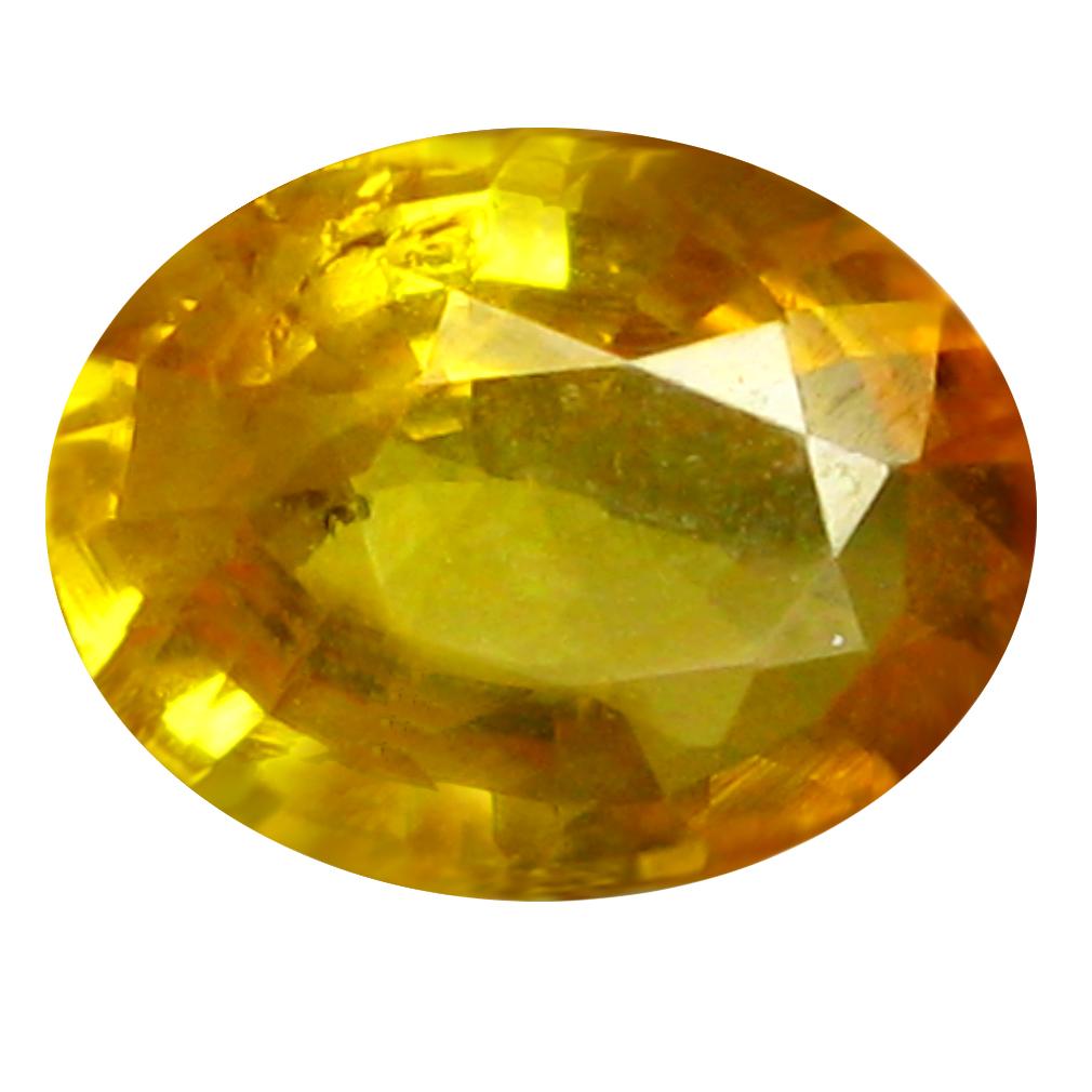0.98 ct AAA Wonderful Oval Shape (7 x 5 mm) Orange Yellow Sapphire Natural Gemstone