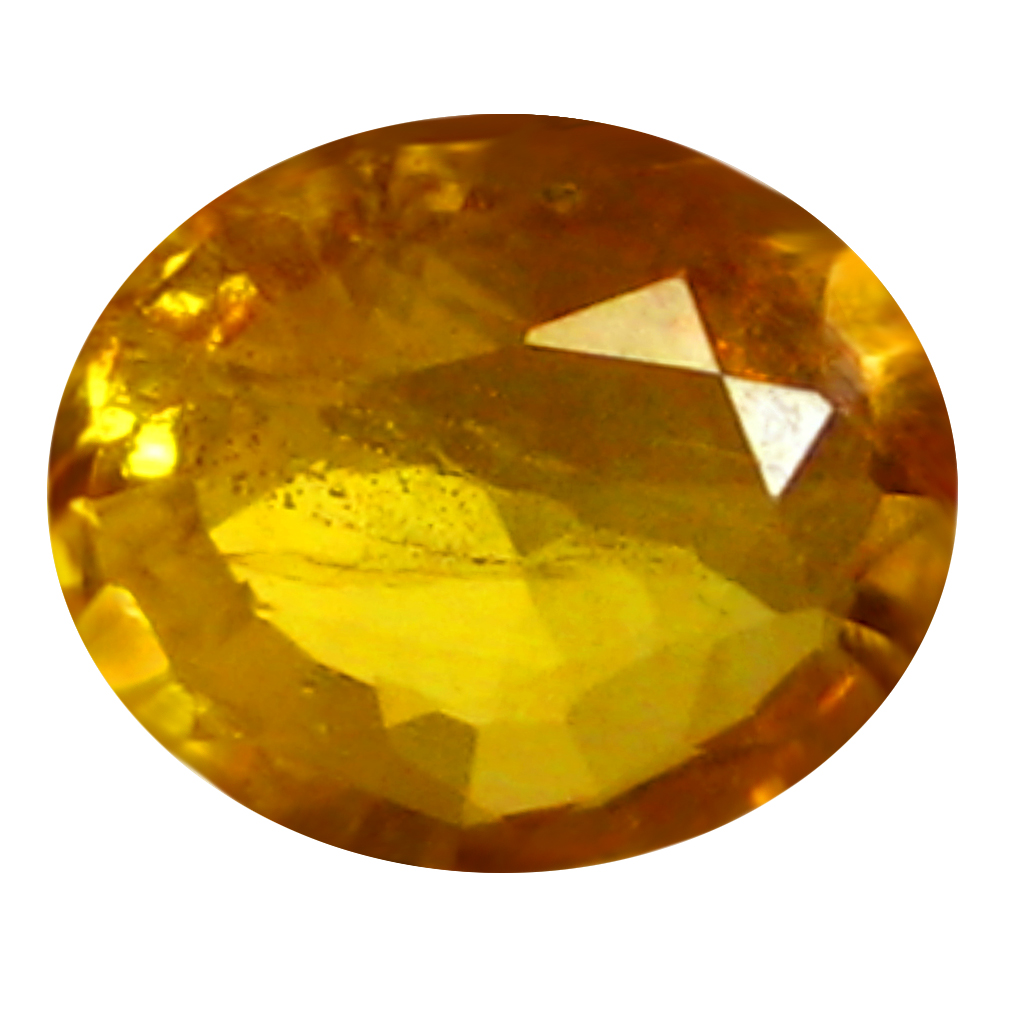 0.50 ct AAA Dazzling Oval Shape (6 x 5 mm) Orange Yellow Sapphire Natural Gemstone