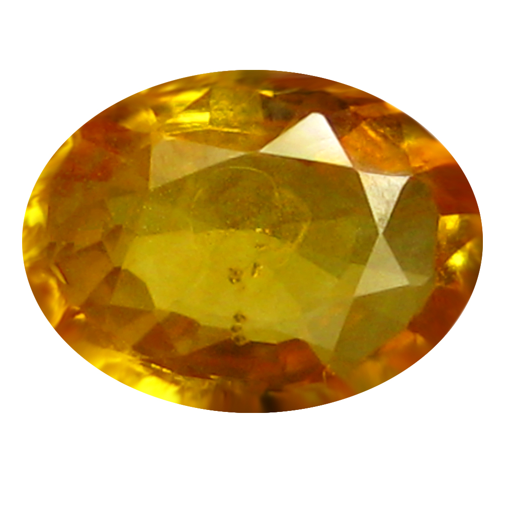 0.78 ct AAA Elegant Oval Shape (7 x 5 mm) Orange Yellow Sapphire Natural Gemstone