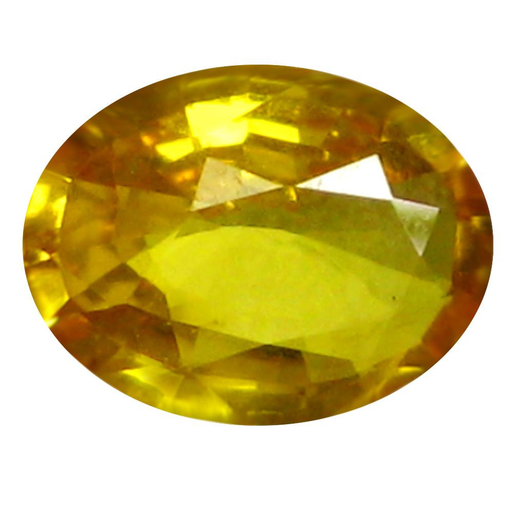 0.72 ct AAA Incredible Oval Shape (7 x 5 mm) Orange Yellow Sapphire Natural Gemstone
