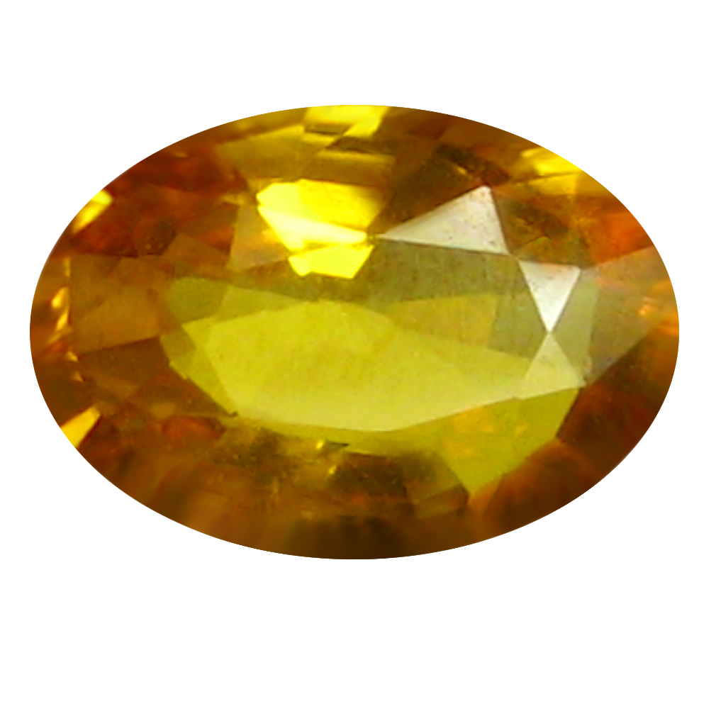0.77 ct AAA Extraordinary Oval Shape (7 x 5 mm) Orange Yellow Sapphire Natural Gemstone