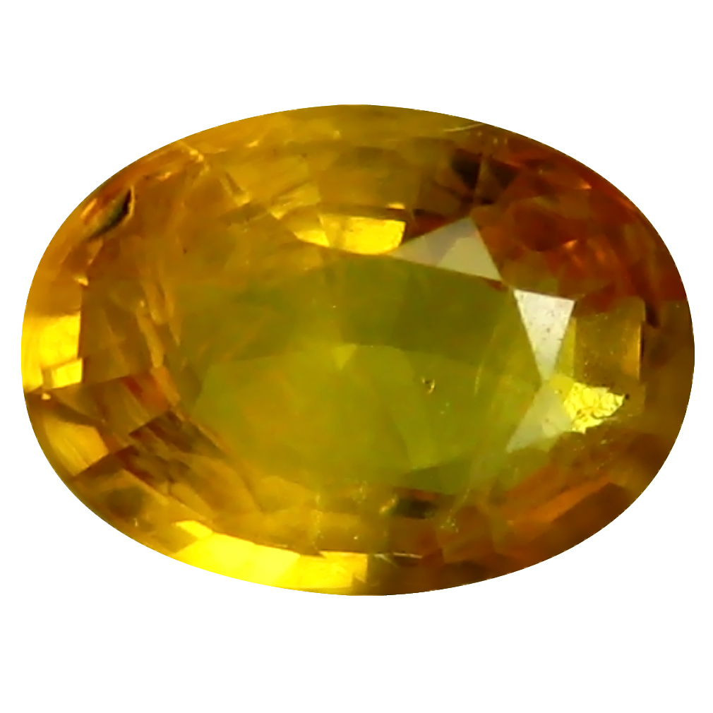 0.86 ct AAA Excellent Oval Shape (7 x 5 mm) Orange Yellow Sapphire Natural Gemstone