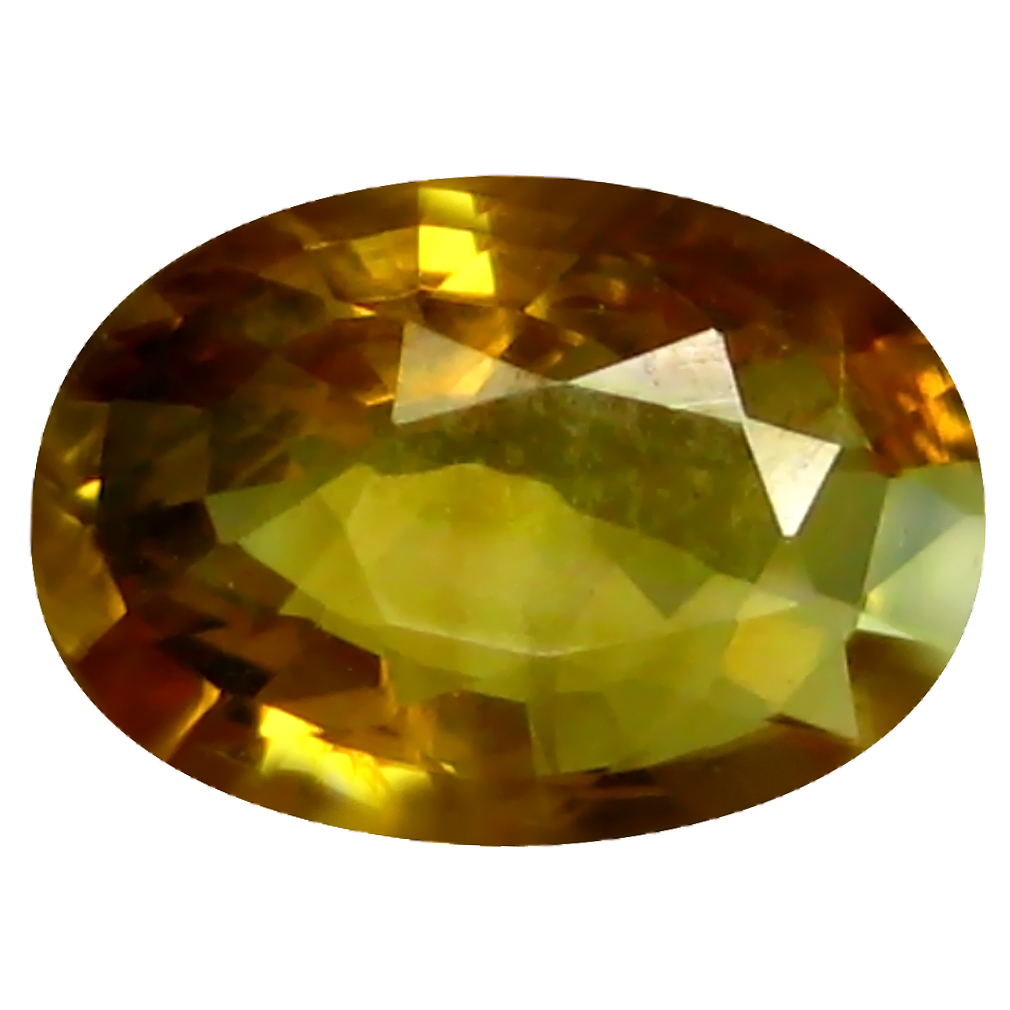 0.69 ct AAA World class Oval Shape (7 x 5 mm) Orange Yellow Sapphire Natural Gemstone