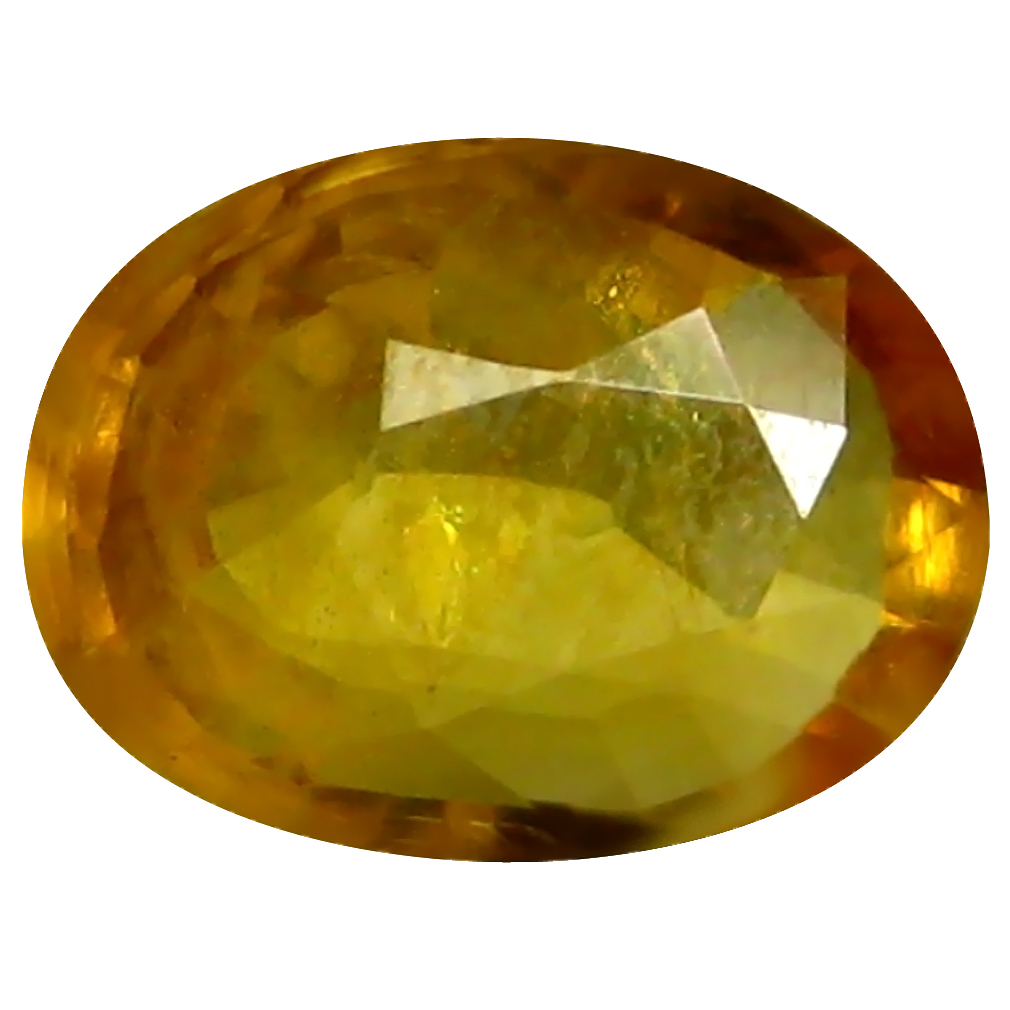 0.81 ct AAA Incomparable Oval Shape (7 x 5 mm) Orange Yellow Sapphire Natural Gemstone