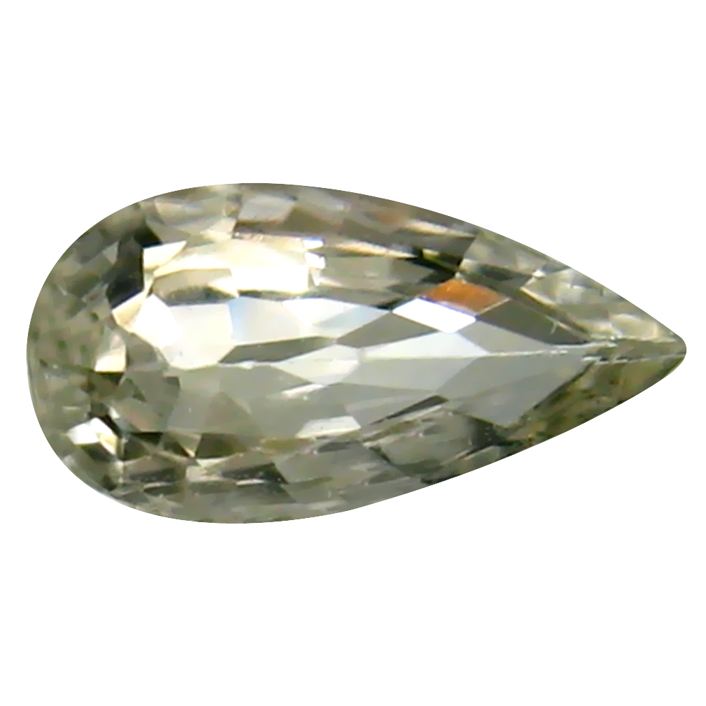 0.78 ct Valuable Pear Cut (8 x 4 mm) Ceylon Yellow Sapphire Genuine Loose Gemstone
