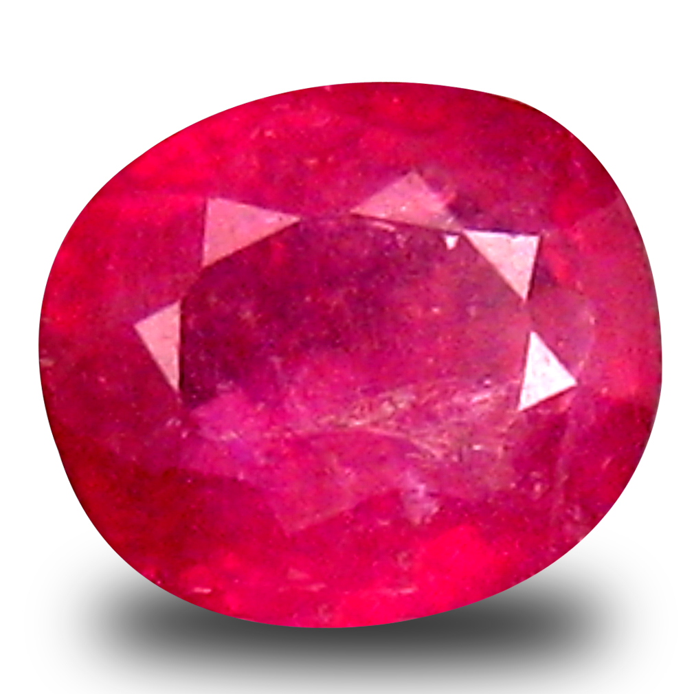 0.88 ct  Tremendous Oval Shape (6 x 5 mm) Red Sapphire Natural Gemstone
