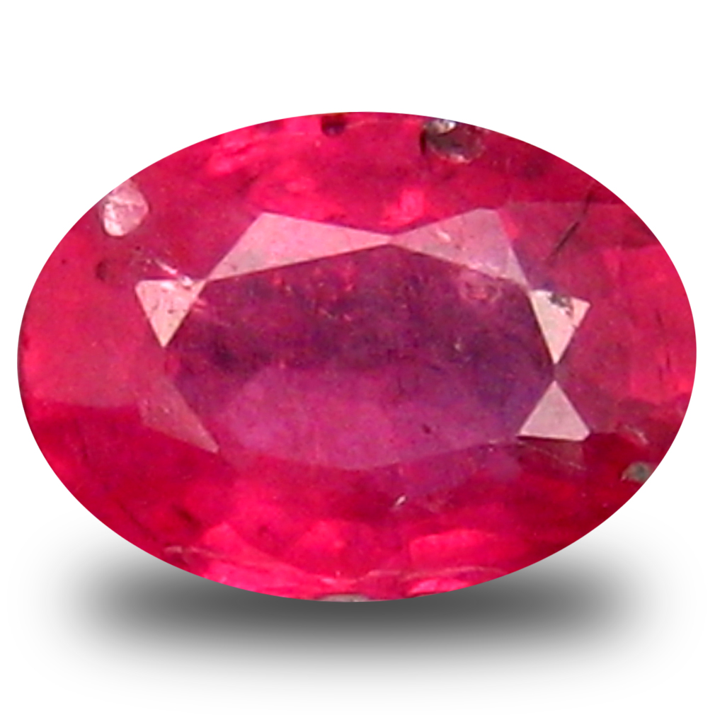 0.87 ct  Dazzling Oval Shape (6 x 5 mm) Red Sapphire Natural Gemstone