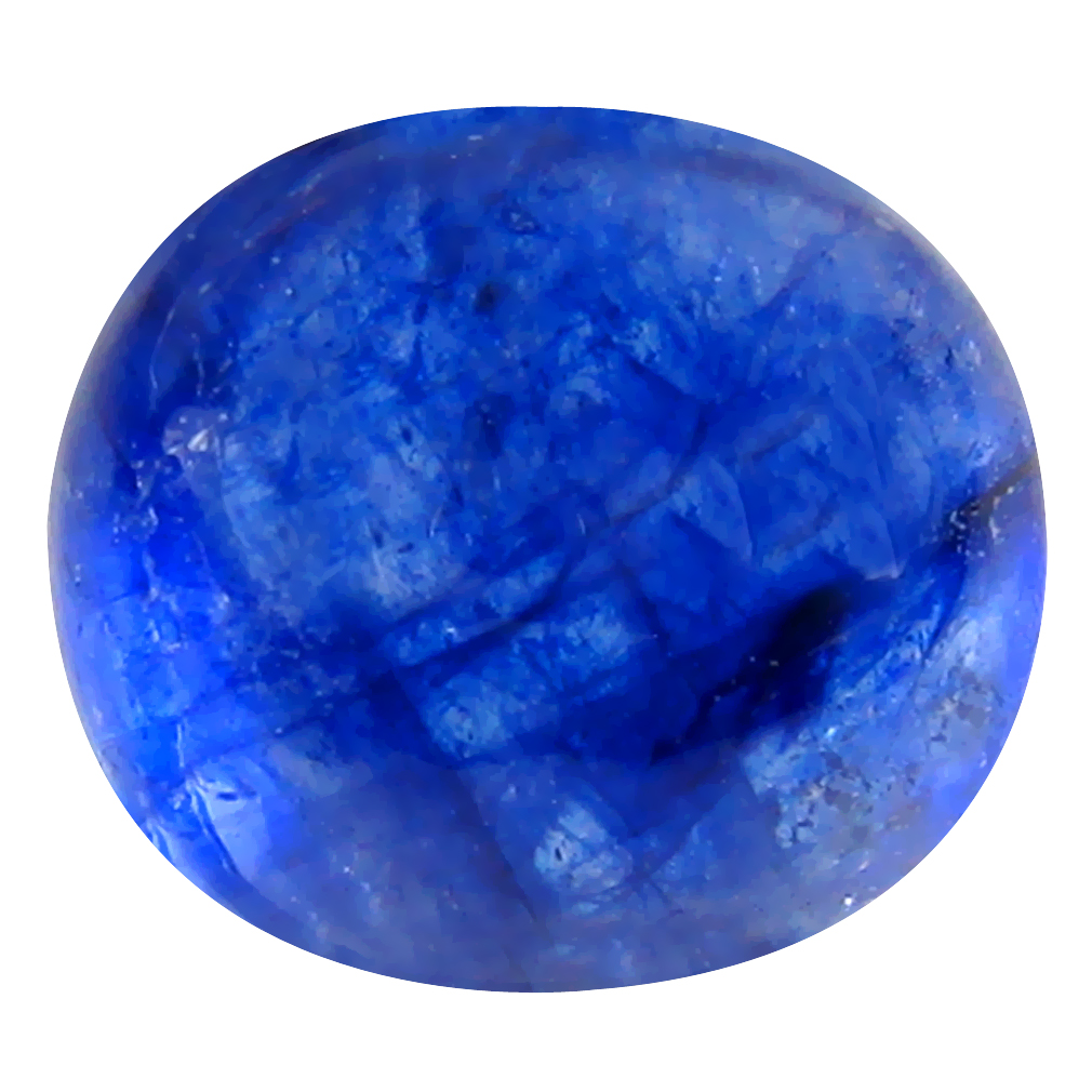 6.15 ct First-class AAA Oval Cabochon Shape (10 x 9 mm) Blue Blue Sapphire Natural Loose Stone
