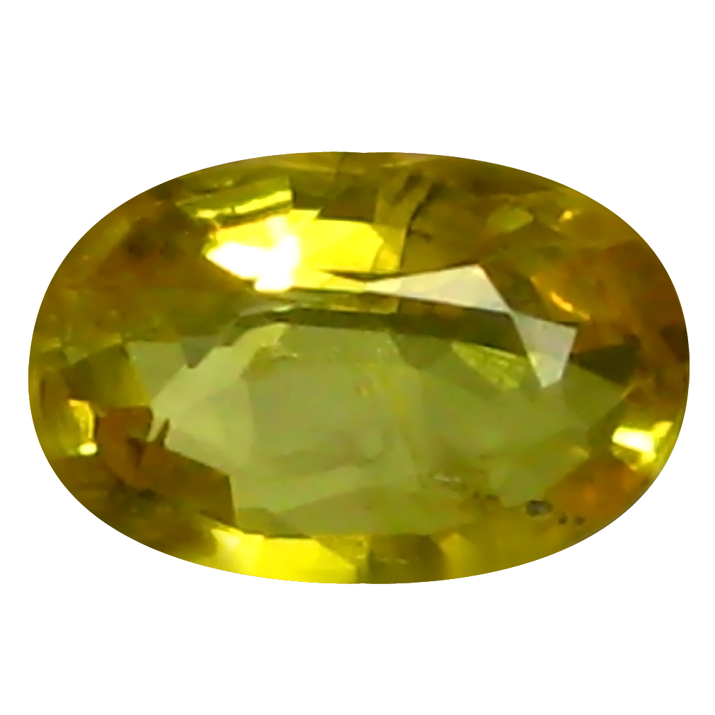 0.61 ct AAA Pleasant Oval Shape (6 x 4 mm) Yellow Yellow Sapphire Natural Gemstone