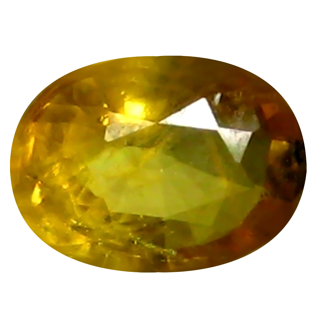 0.98 ct AAA Flashing Oval Shape (7 x 5 mm) Yellow Yellow Sapphire Natural Gemstone