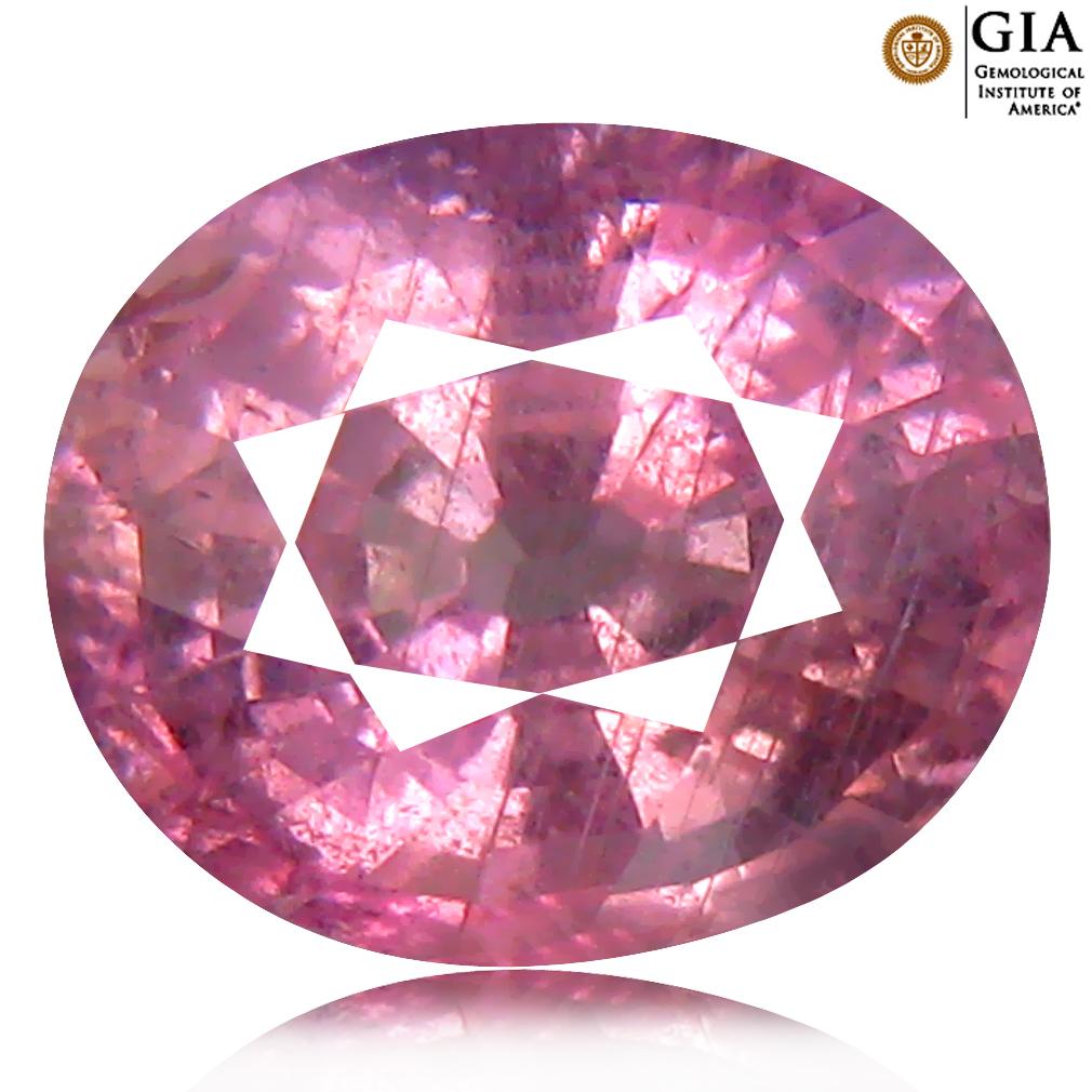 3.43 ct GIA Certified Eye-opening Oval Cut (9 x 8 mm) UNHEATED and UNTREATED Ceylon - Sri Lanka Purplish Pink Sapphire