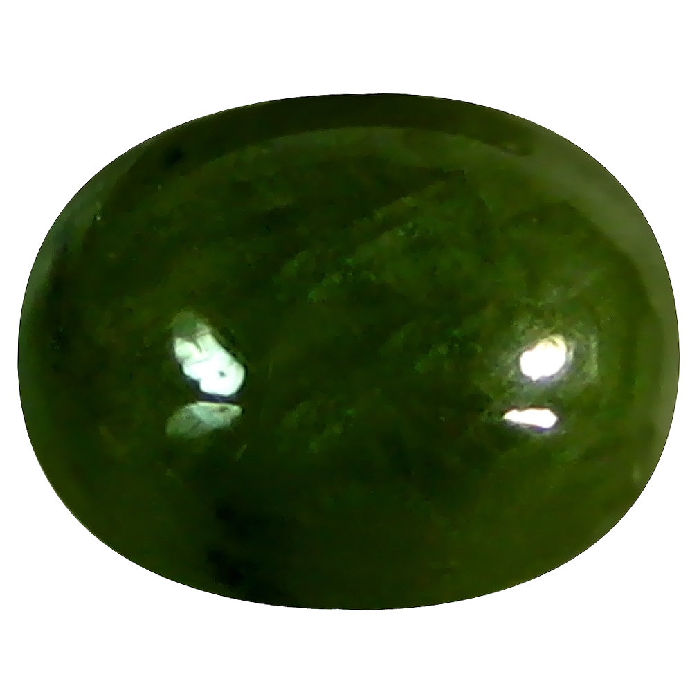 5.92 ct  Sparkling Oval Cabochon Shape (11 x 8 mm) Natural Green Sapphire Loose Stone