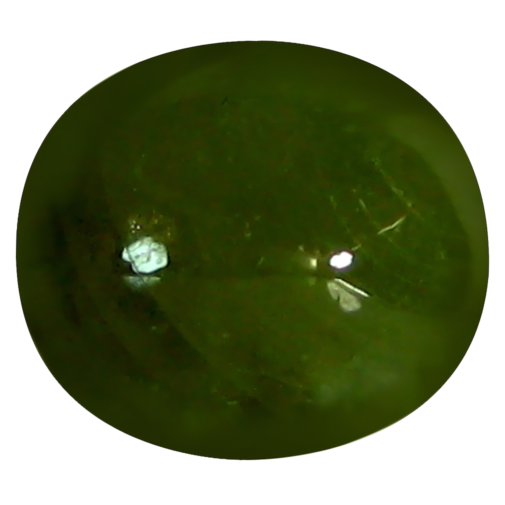 6.44 ct  Beautiful Oval Cabochon Shape (10 x 9 mm) Natural Green Sapphire Loose Stone