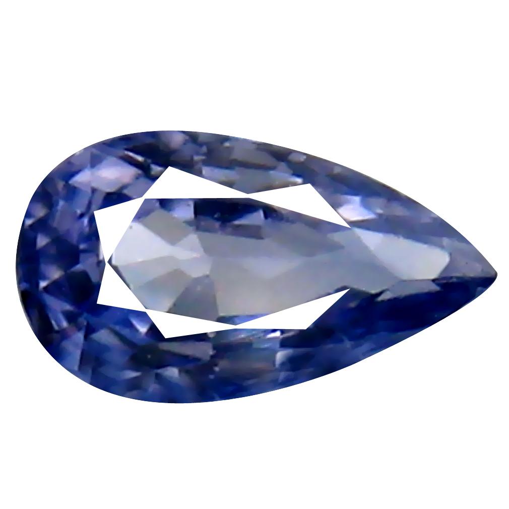 0.36 ct Gorgeous Pear Cut (6 x 3 mm) Ceylon Blue Sapphire Genuine Loose Gemstone