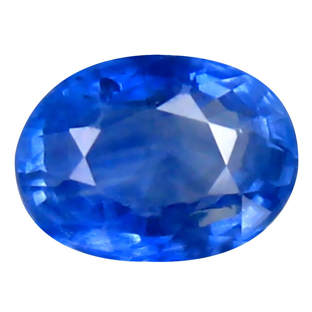 0.58 ct MESMERIZING OVAL (5 X 4 MM) HEATED CEYLON - SRI LANKA BLUE SAPPHIRE LOOSE GEMSTONE