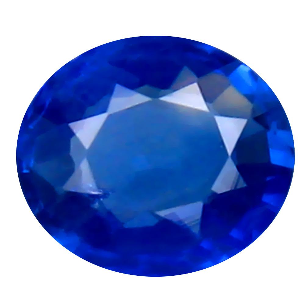 0.44 ct TREMENDOUS OVAL (5 X 5 MM) HEATED CEYLON - SRI LANKA BLUE SAPPHIRE LOOSE GEMSTONE
