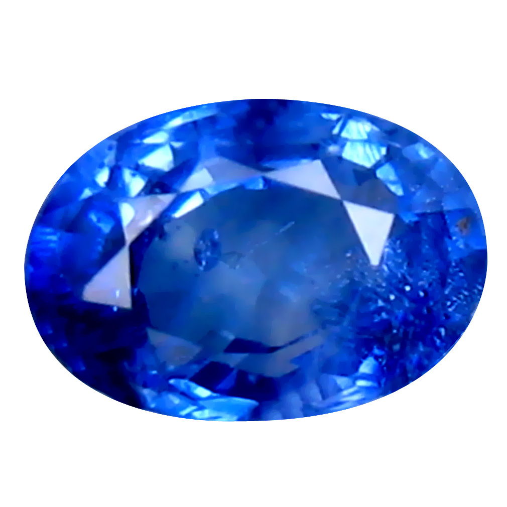 0.51 ct TERRIFIC OVAL (5 X 4 MM) HEATED CEYLON - SRI LANKA BLUE SAPPHIRE LOOSE GEMSTONE