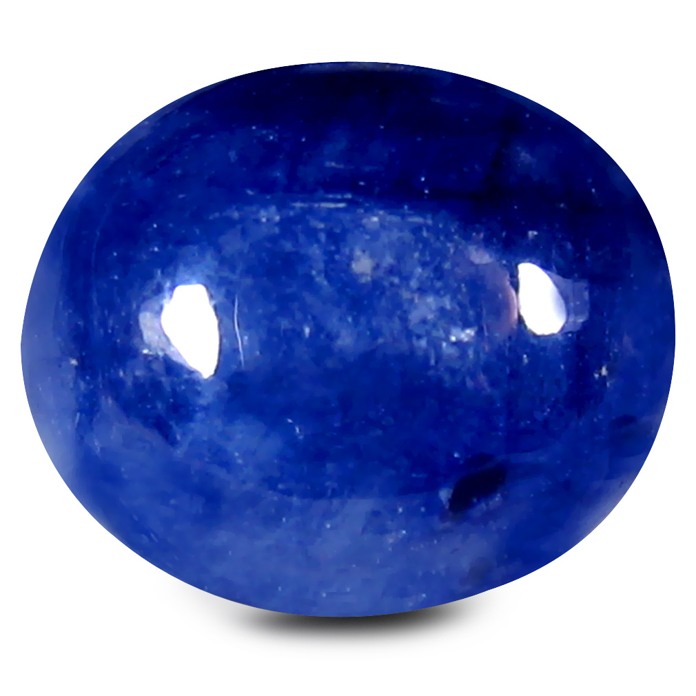 8.13 ct AAA Valuable Oval Cabochon Shape (11 x 9 mm) Blue Blue Sapphire Natural Gemstone