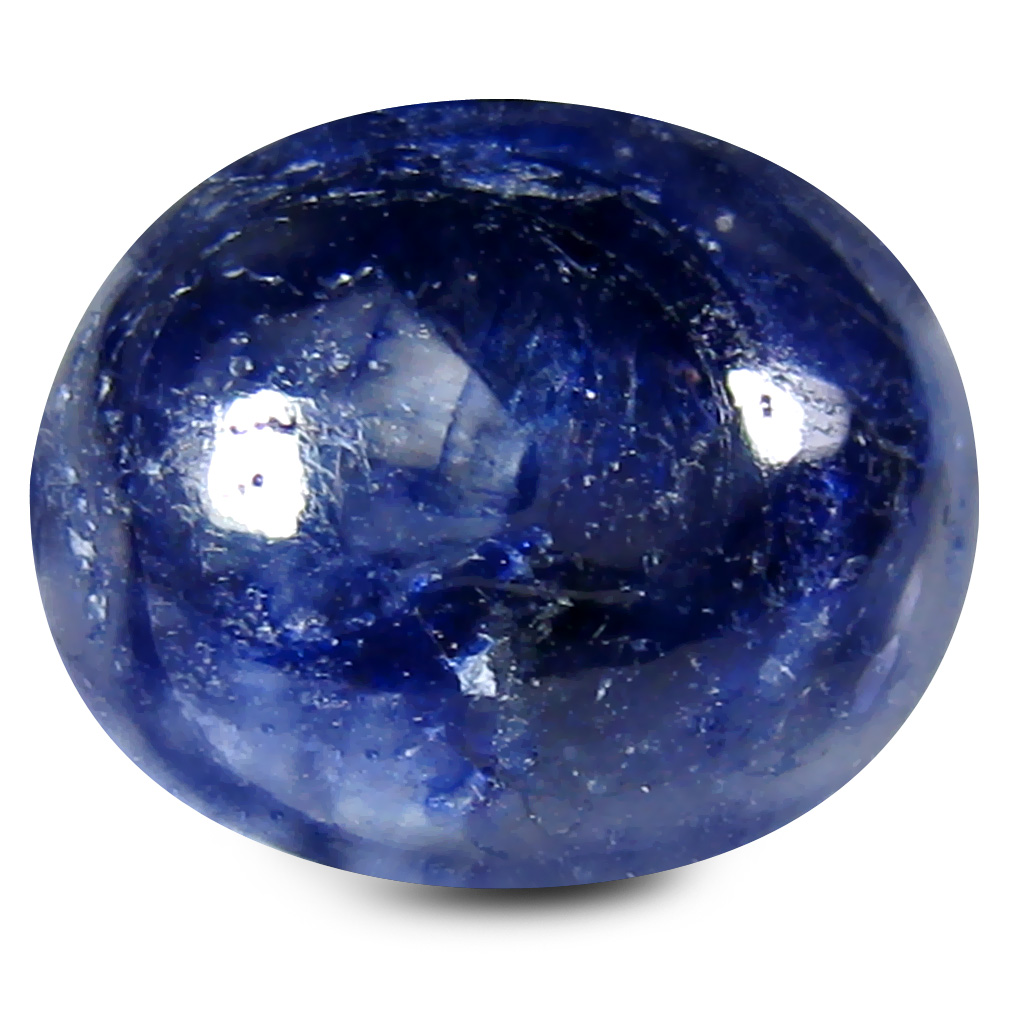 6.80 ct AAA Attractive Oval Cabochon Shape (12 x 10 mm) Blue Blue Sapphire Natural Gemstone