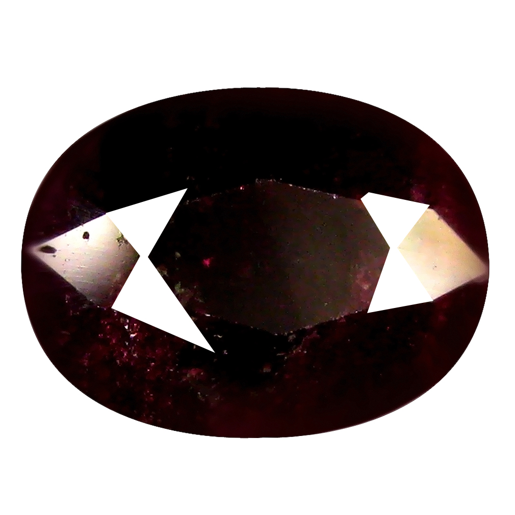 2.45 ct Shimmering Oval Shape (9 x 7 mm) Brownish Red Sapphire Genuine Stone