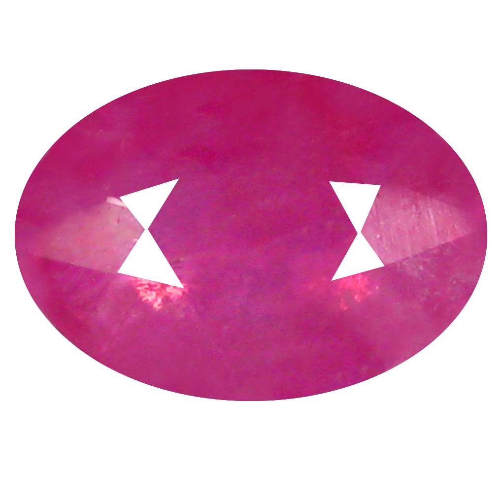 0.65 ct Impressive Oval Shape (6 x 4 mm) Pinkish Red Sapphire Genuine Stone
