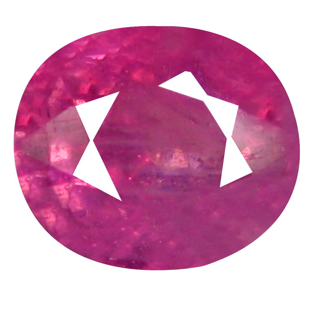 1.03 ct Amazing Oval Shape (6 x 5 mm) Pinkish Red Sapphire Genuine Stone