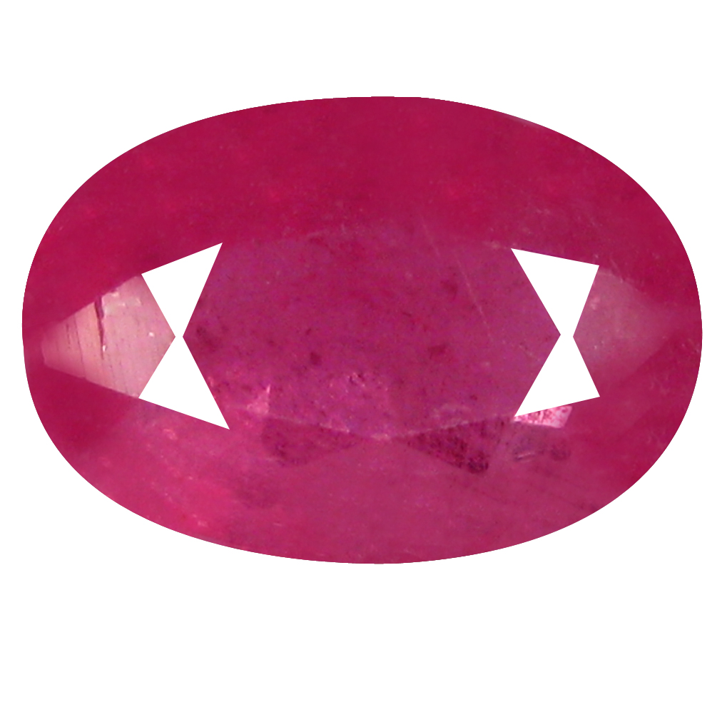 1.33 ct Supreme Oval Shape (8 x 5 mm) Pinkish Red Sapphire Genuine Stone