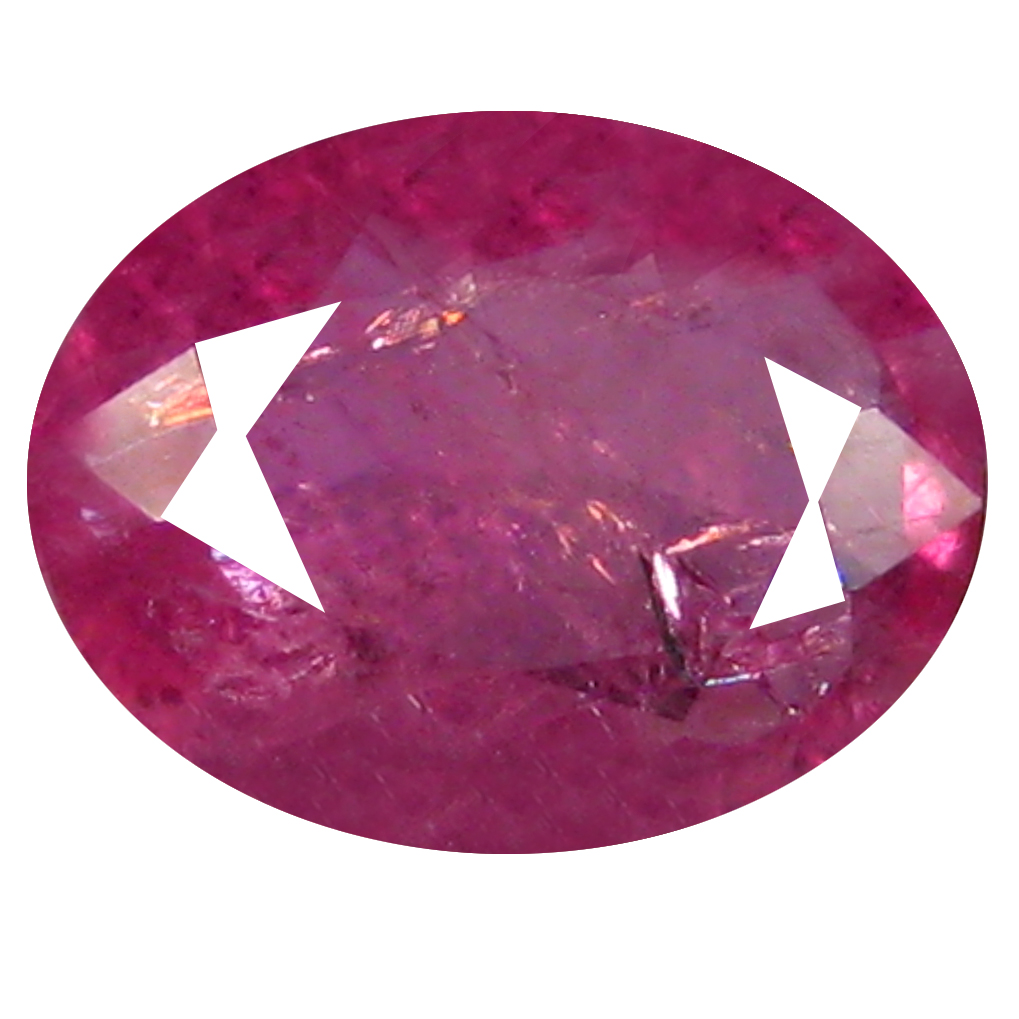 0.90 ct Splendid Oval Shape (7 x 5 mm) Pinkish Red Sapphire Genuine Stone