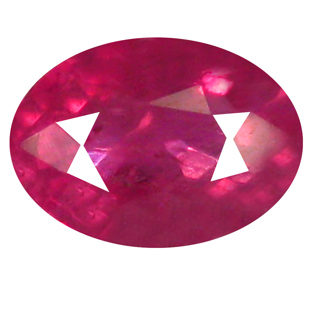 0.46 ct Magnificent Oval Shape (5 x 4 mm) Pinkish Red Sapphire Genuine Stone