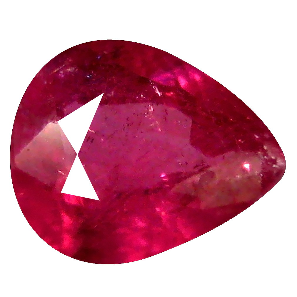 0.60 ct Fabulous Pear Shape (6 x 5 mm) Pinkish Red Sapphire Genuine Stone