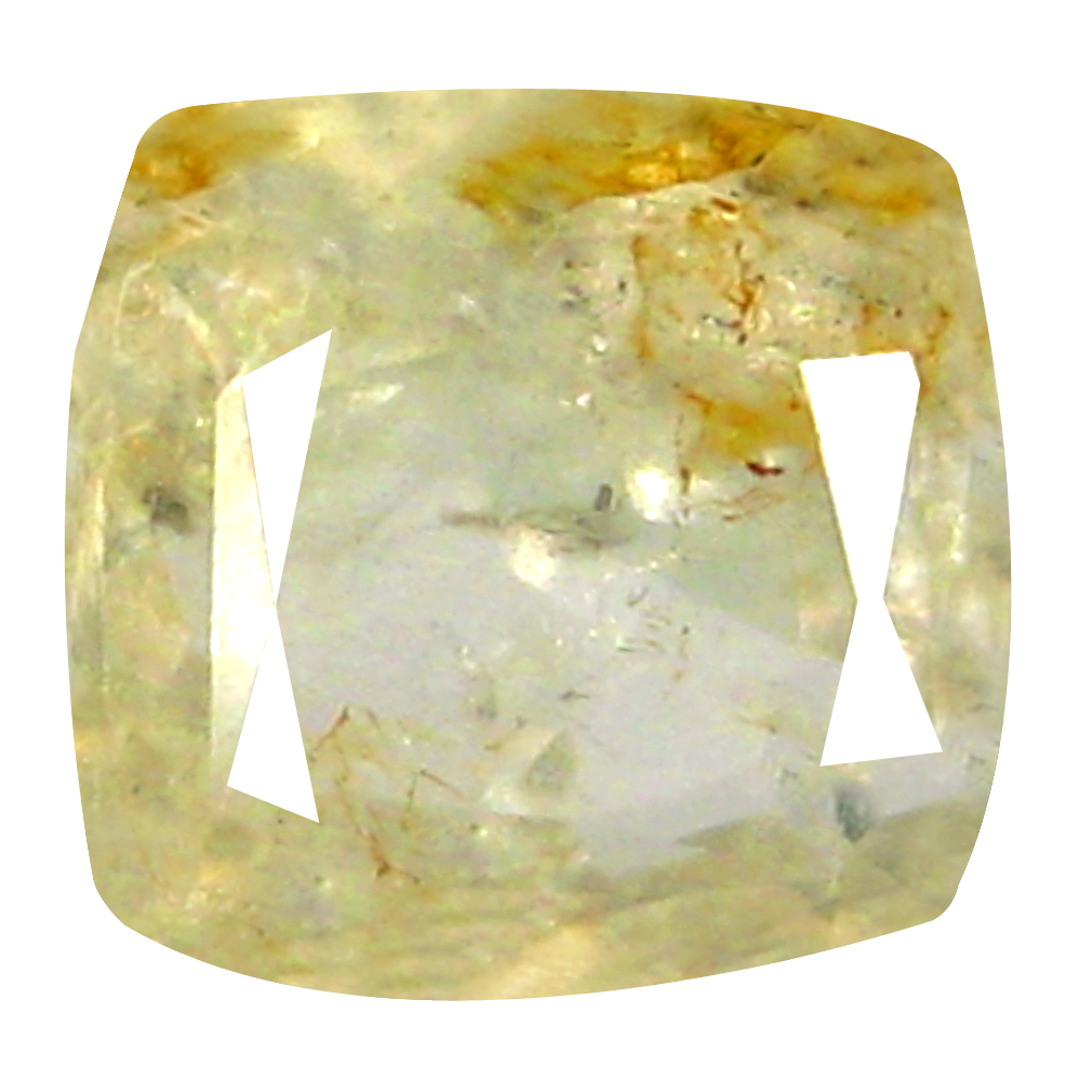 1.48 ct Great looking Cushion Cut (6 x 6 mm) Un-Heated Yellow Yellow Sapphire Natural Gemstone