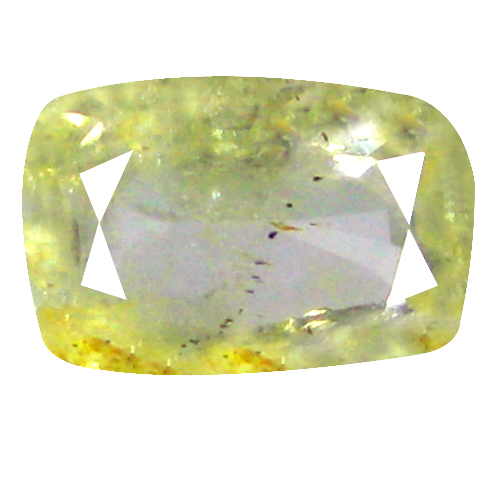 1.28 ct Remarkable Cushion Cut (8 x 5 mm) Un-Heated Yellow Yellow Sapphire Natural Gemstone