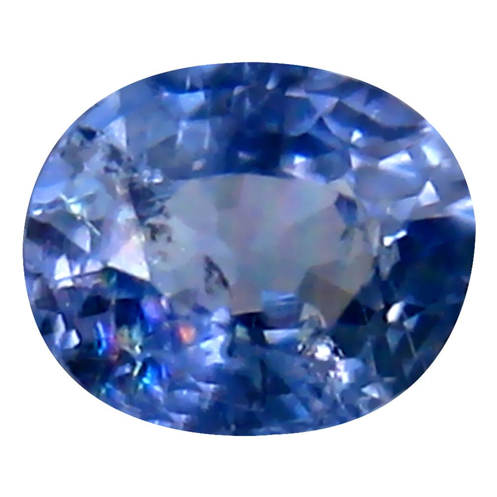 0.55 ct Fair Oval Cut (5 x 4 mm) Un-Heated Blue Sapphire Natural Gemstone