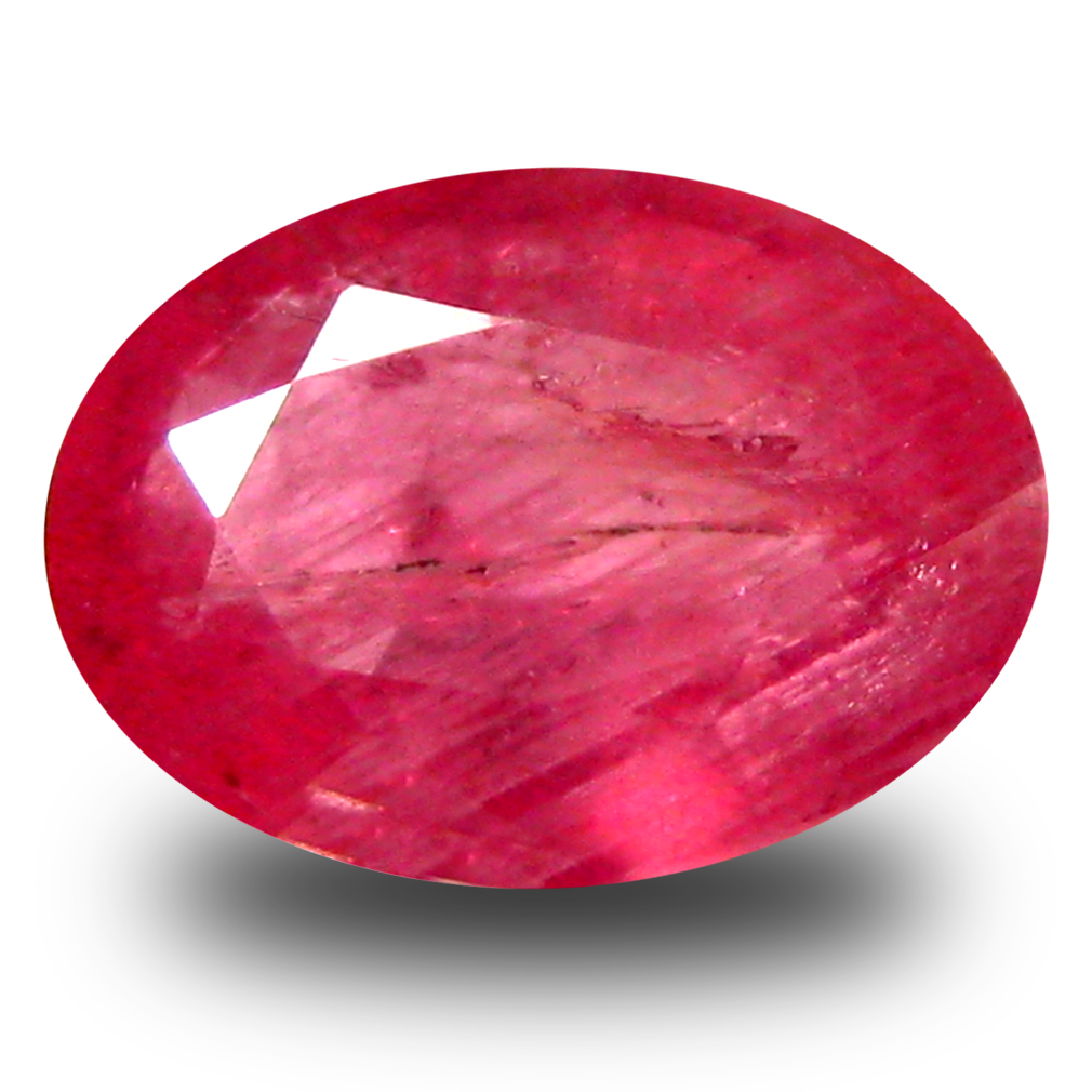0.91 ct  Dazzling Oval Shape (7 x 5 mm) Red Sapphire Natural Gemstone
