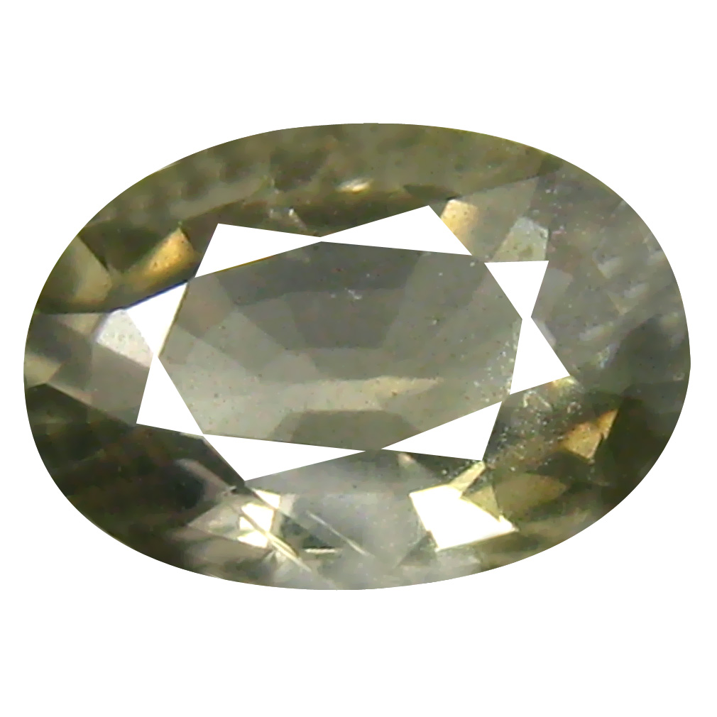 0.87 ct Flashing Oval Cut (7 x 5 mm) Un-Heated Green Sapphire Natural Gemstone
