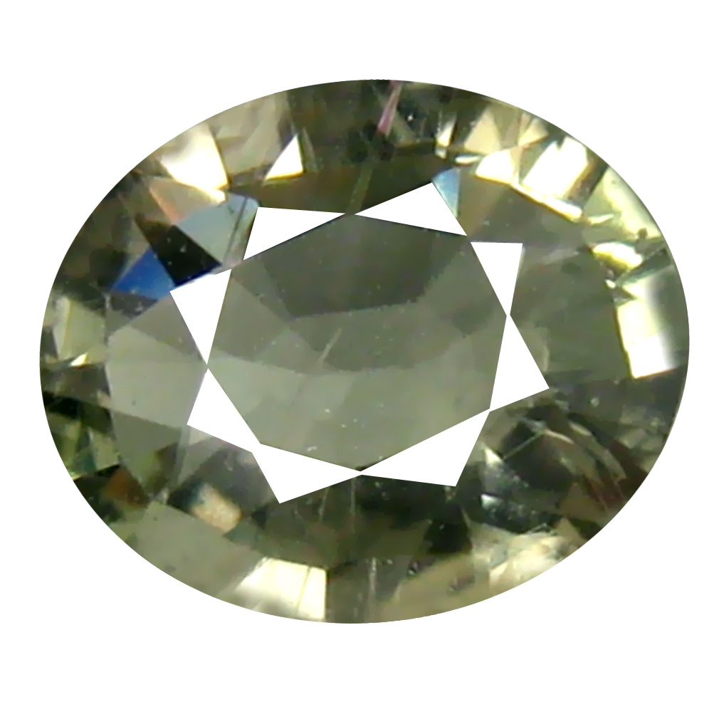 0.85 ct Supreme Oval Cut (6 x 5 mm) Un-Heated Green Sapphire Natural Gemstone