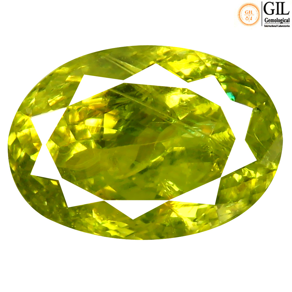 10.25 ct GIL Certified Marvelous Greenish Yellow Oval Cut (14 x 10 mm) Unheated / Untreated Chrysoberyl Gemstone