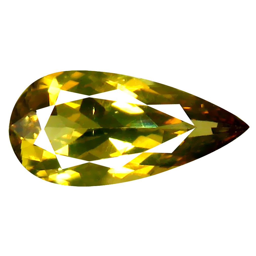 1.75 ct World class Pear Cut (12 x 6 mm) Greenish Yellow Unheated / Untreated Chrysoberyl Natural Gemstone